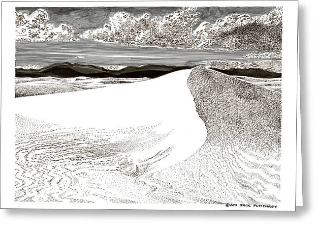 Pen And Ink Framed Prints Greeting Cards - White Sands New Mexico Greeting Card by Jack Pumphrey