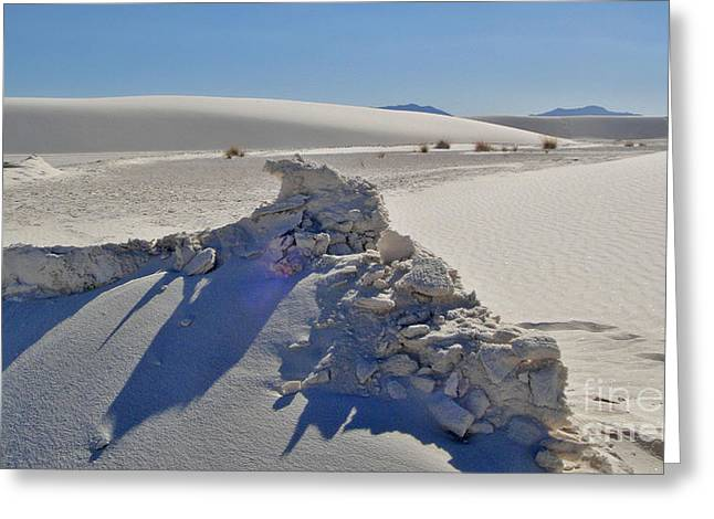 White Sands New Mexico Sand Rift Greeting Card by Gregory Dyer