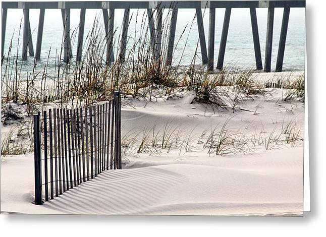 Florida Panhandle Greeting Cards - White Sands of Pensacola Beach Greeting Card by JC Findley