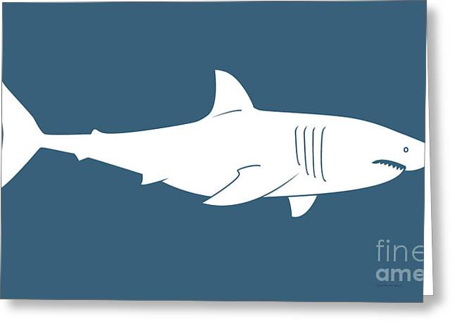 Great Paintings Greeting Cards - White Shark Greeting Card by Amy Kirkpatrick