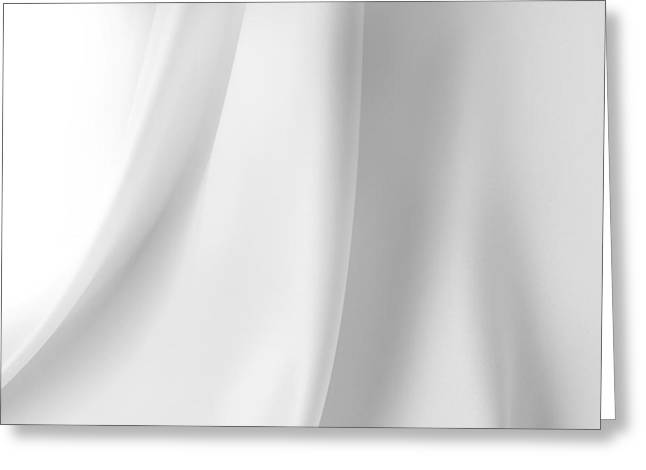 White Cloth Greeting Cards - White silk Greeting Card by Les Cunliffe