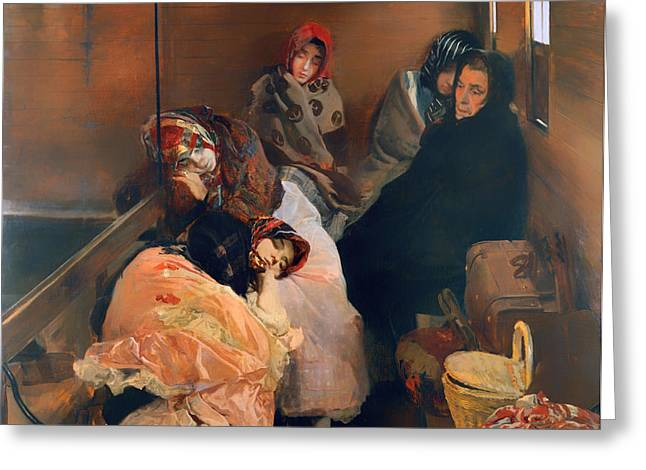 Slaves Greeting Cards - White Slave Trade Greeting Card by Joaquin Sorolla