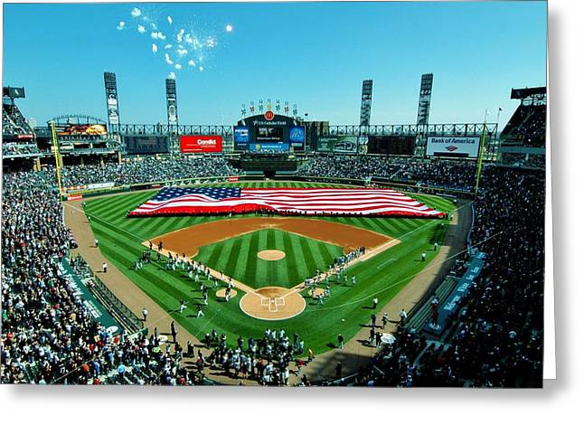 White Sox Opening Day Greeting Card by Benjamin Yeager