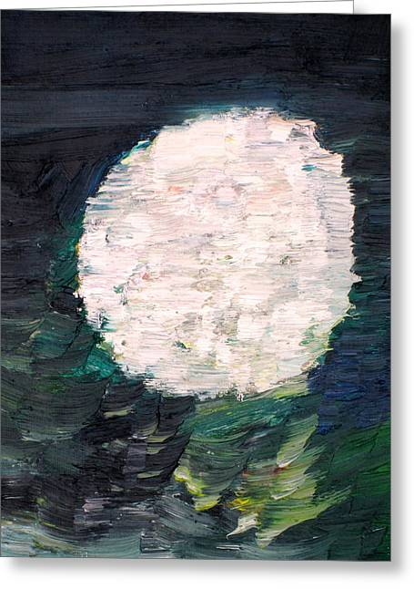 Spheres Paintings Greeting Cards - White Sphere Greeting Card by Fabrizio Cassetta