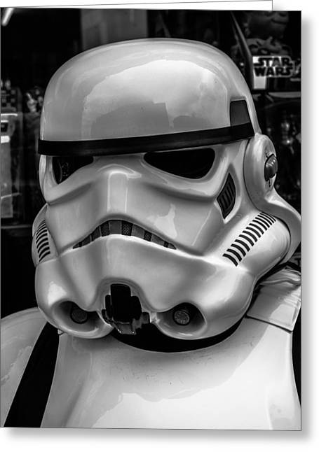White Digital Greeting Cards - White Stormtrooper Greeting Card by David Doyle
