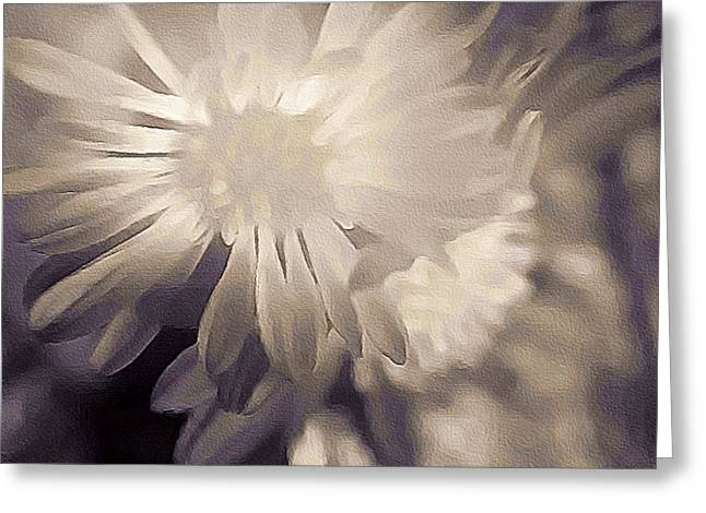 Floral Digital Art Greeting Cards - White Greeting Card by Susan Maxwell Schmidt