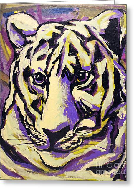 White Tiger Not Greeting Card by Becca Lynn Weeks