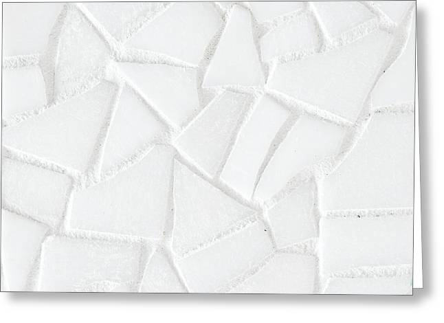 Ground Cover Greeting Cards - White tiles Greeting Card by Tom Gowanlock