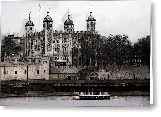 White Tower At Tower Of London Greeting Card by Daniel Hagerman