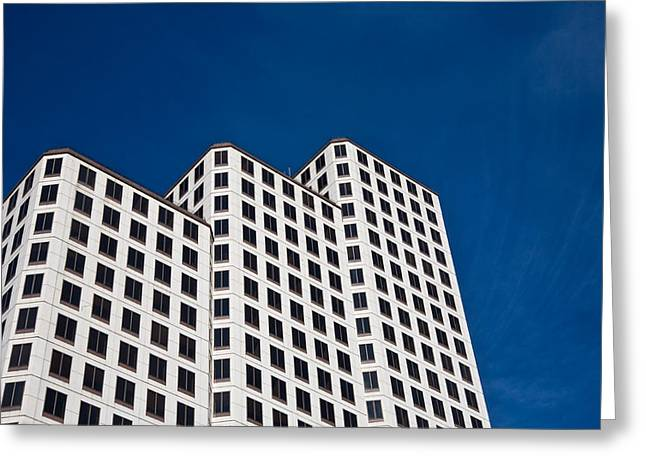White Towers Greeting Card by Mark Weaver