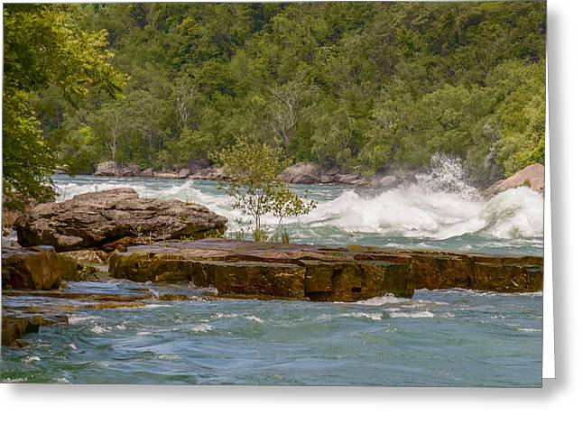 White Water Rafting Print Greeting Cards - White Water Greeting Card by Garvin Hunter