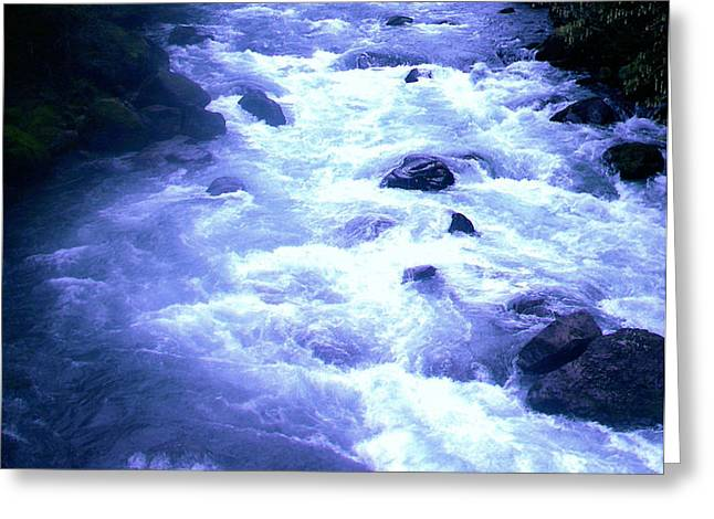 White water Greeting Card by J D Owen