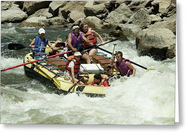 Arkansas Greeting Cards - White Water Rafting Greeting Card by Christopher James