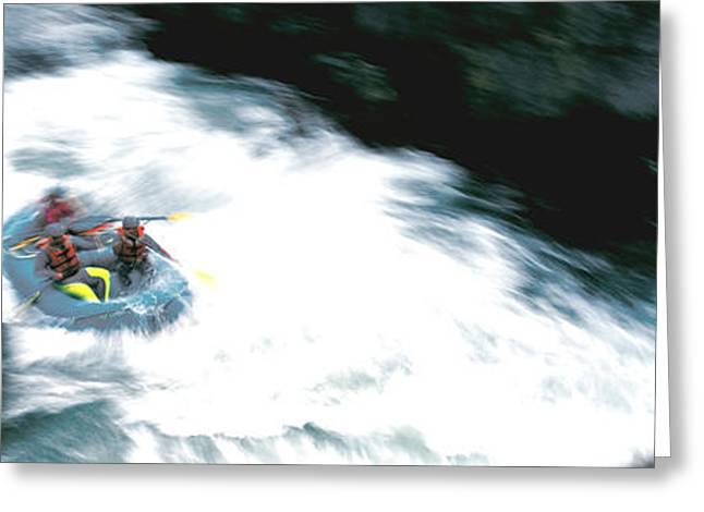 Three Speed Greeting Cards - White Water Rafting Salmon River Ca Usa Greeting Card by Panoramic Images