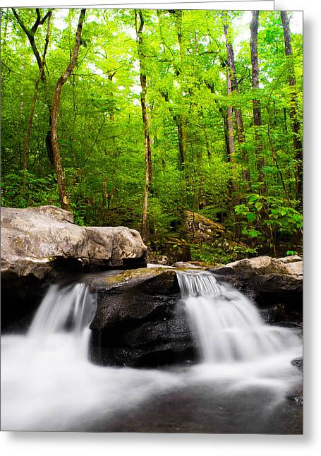 Waterfall Photographs Greeting Cards - White Water Rapids Greeting Card by Shelby  Young