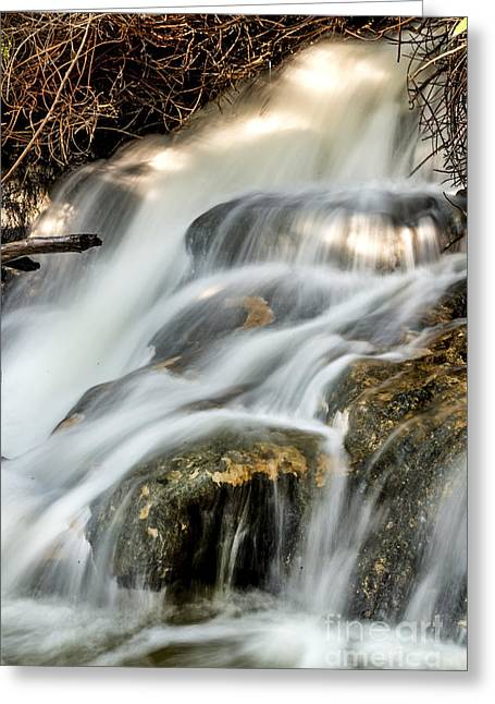 Color Photography Greeting Cards - White Water Waterfalls Greeting Card by Arik Baltinester