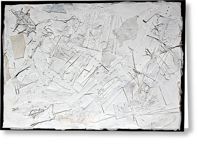 White Cloth Mixed Media Greeting Cards - White Web Collage 6 Greeting Card by Hari Thomas