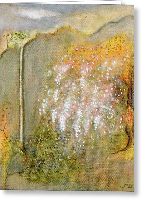 Creepers Greeting Cards - White Whisteria, 2001 Oil On Canvas Greeting Card by Jane Deakin