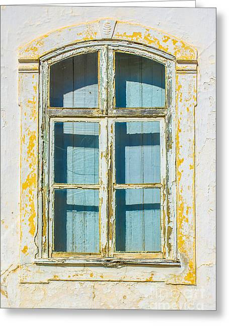 Run Down Greeting Cards - White Window Greeting Card by Carlos Caetano