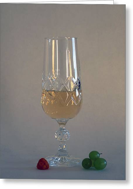 Winetasting Greeting Cards - White Wine Greeting Card by IB Photo