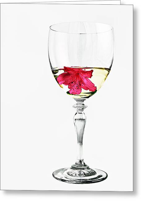 Up And Coming Greeting Cards - White Wine Greeting Card by Marcia Colelli