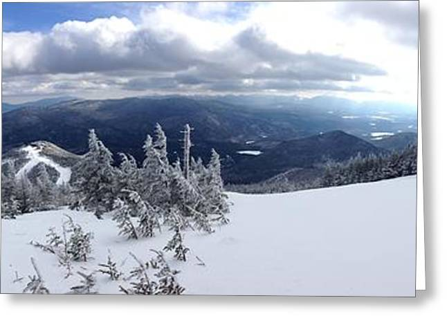 Maine Beach Greeting Cards - Whiteface Mountain View Greeting Card by Michael French