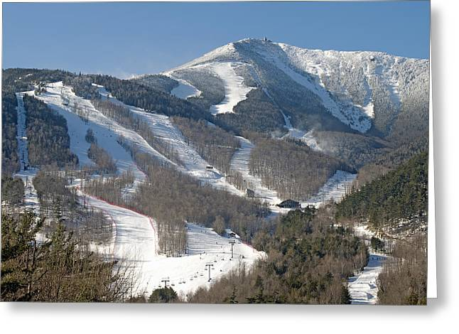 Summit Greeting Cards - Whiteface Ski Mountain in Upstate New York near Lake Placid Greeting Card by Brendan Reals