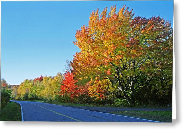 Whitefish Bay Scenic Byway Greeting Card by James Rasmusson