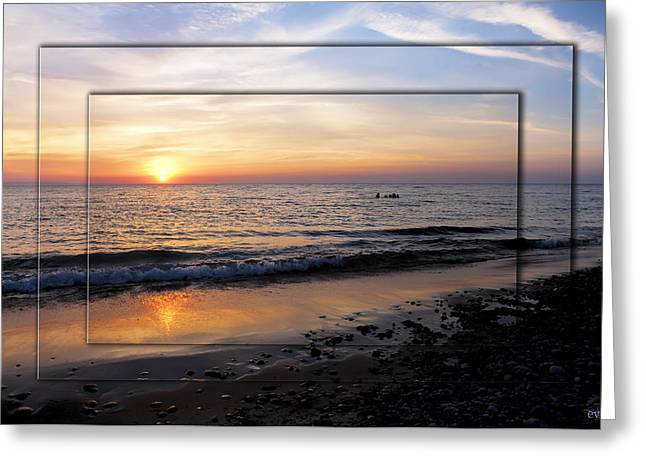 Agate Beach Greeting Cards - Whitefish Point Lake Superior Michigan Greeting Card by Evie Carrier