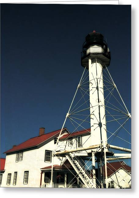 Whitefish Point Light Station Greeting Card by Michelle Calkins