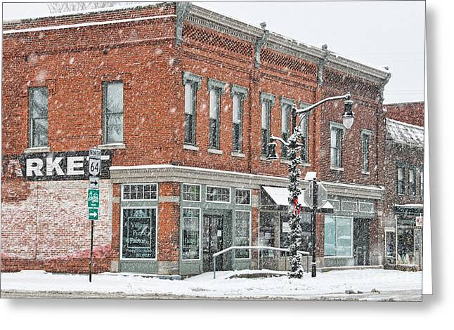 Whitehouse Ohio In Snow 7032 Greeting Card by Jack Schultz