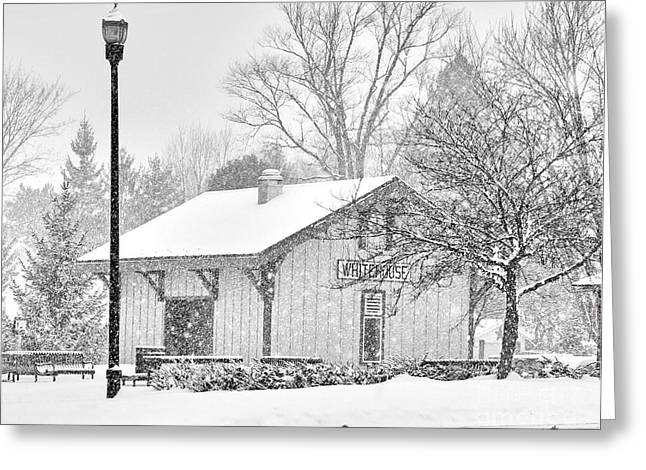 Whitehouse Train Station Greeting Card by Jack Schultz