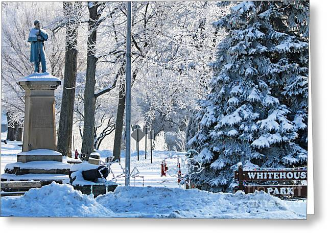 Whitehouse Village Park  7360 Greeting Card by Jack Schultz