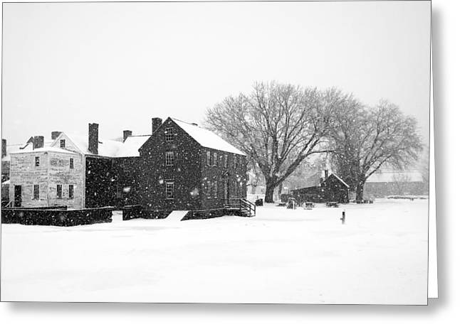 Canon 5d Mark Ii Greeting Cards - Whiteout at Strawbery Banke Greeting Card by Eric Gendron