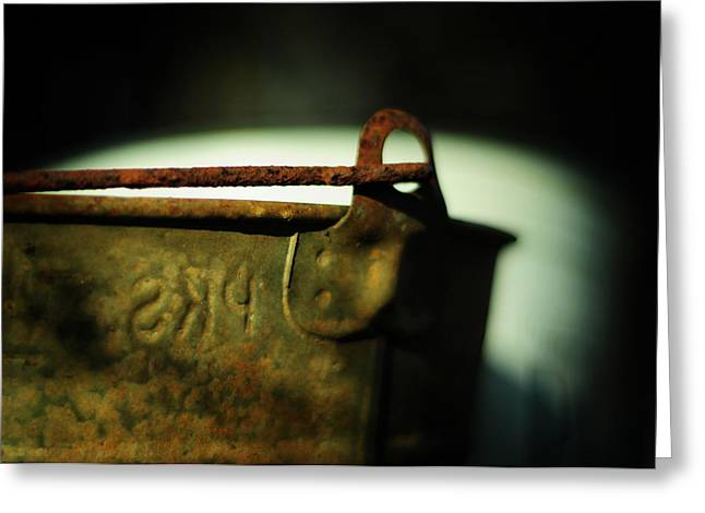 Rust Bucket Greeting Cards - Whiter Shade of Pail Greeting Card by Rebecca Sherman