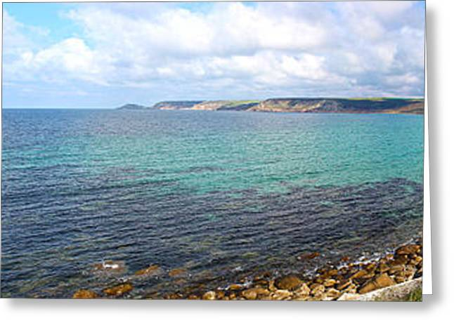 Terri Waters Greeting Cards - Whitesand Bay and Cape Cornwall Greeting Card by Terri  Waters