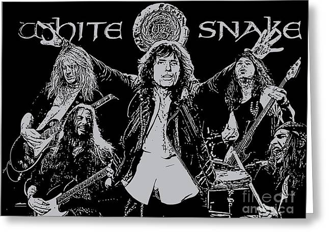Rock N Roll Greeting Cards - Whitesnake No.01 Greeting Card by Caio Caldas