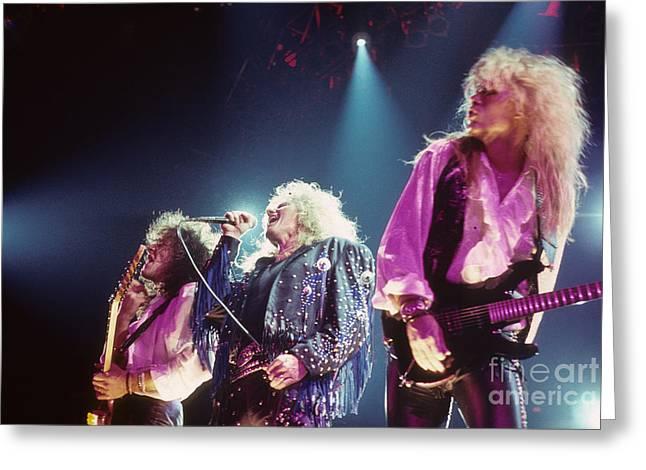 Whitesnake Greeting Cards - Whitesnake Greeting Card by Rich Fuscia
