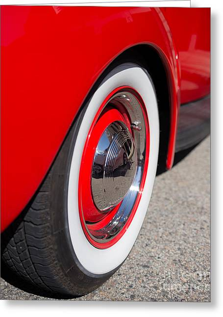 Old Timer Greeting Cards - Whitewalls Greeting Card by Edward Fielding