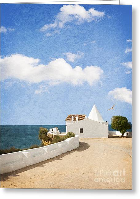 Paint Photograph Greeting Cards - Whitewashed House Algarve Portugal Greeting Card by Amanda And Christopher Elwell