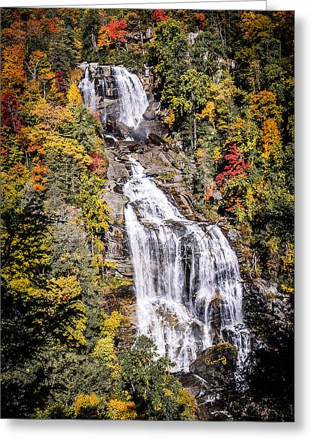 Outlook Greeting Cards - Whitewater Falls Greeting Card by Penny Lisowski