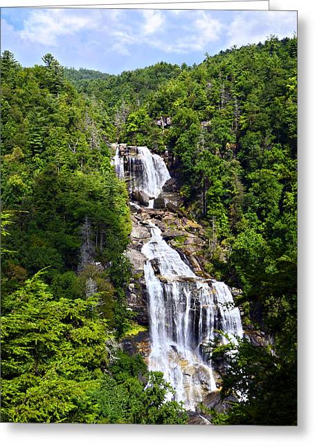 Whitewater Falls Greeting Card by Susan Leggett