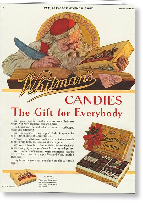 Candy Drawings Greeting Cards - WhitmanÕs 1920s Usa Sweets Father Greeting Card by The Advertising Archives