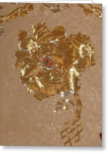 Metallic Tapestries - Textiles Greeting Cards - Whitmans Reach detail Greeting Card by Dan A  Barker