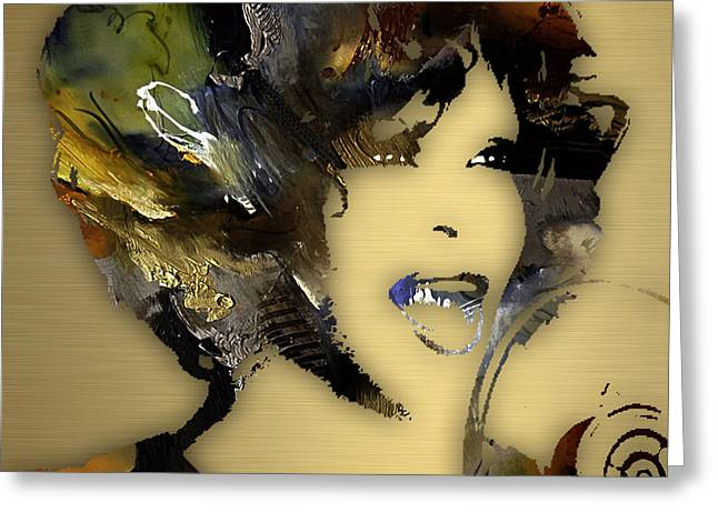 Whitney Houston Greeting Cards - Whitney Houston Collection Greeting Card by Marvin Blaine