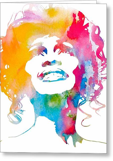 Whitney Houston Greeting Cards - Whitney Houston Greeting Card by Dan Sproul