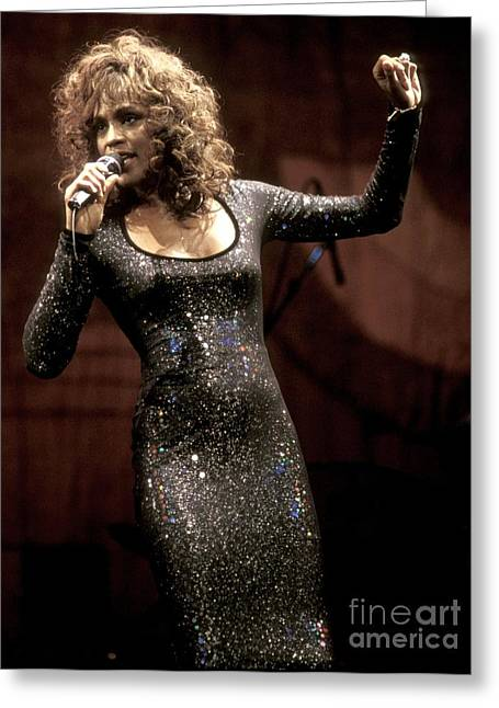 Fashion Photos For Sale Greeting Cards - Whitney Houston Greeting Card by Front Row  Photographs