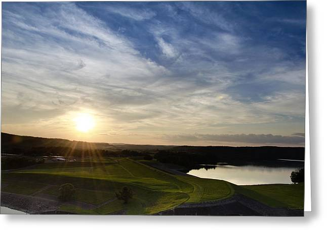 Sunset Greeting Cards Greeting Cards - Whitney Point Reservoir Sunset Landscape Greeting Card by Christina Rollo