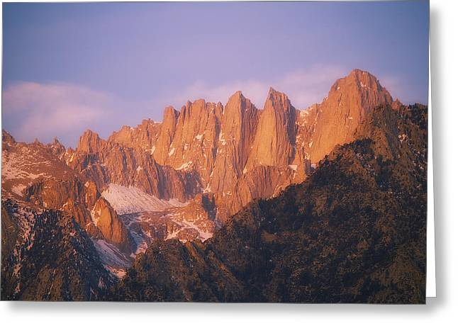 Mount Whitney Greeting Cards - Whitney Sunrise Greeting Card by Peter Coskun