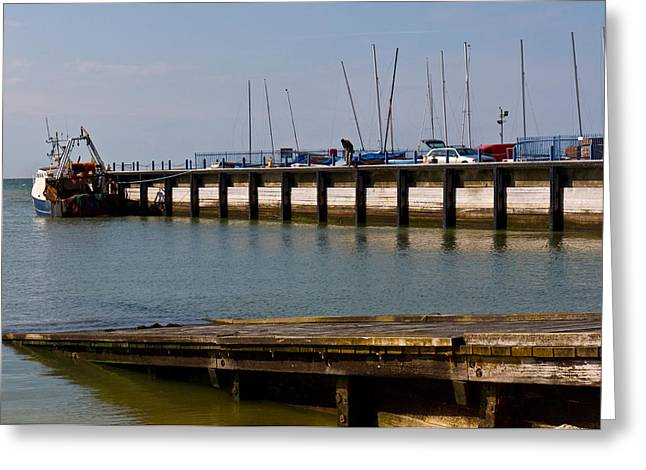 Wood Pier Framed Prints Greeting Cards - Whitstable Harbour. Greeting Card by Wendy Le Ber